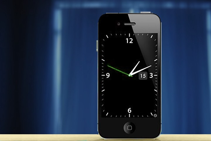 Use iPhone as alarm clock, clock-radio or desk calendar